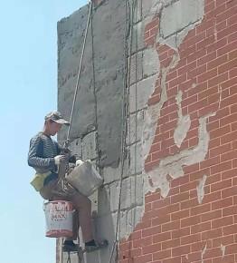 瓷砖修复真实案例:郑州市军区家属院外墙瓷砖修复